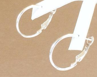 """Sterling Silver Hoop Earrings 15/16"""""""