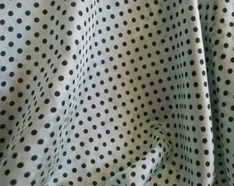 Antique french silk fabric, 1930s, 345 cm/90 cm