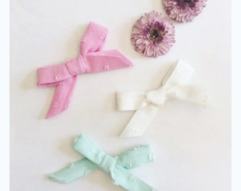 Dotted Swiss Bows