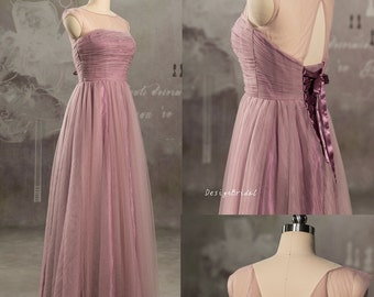 Dusty rose bridesmaid dress | Etsy