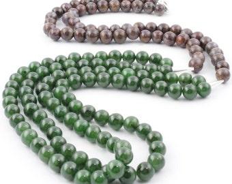 """Unique Jade and Pietersite Bead Necklace*  - 10% off - Promo Code """"SUMMER17"""""""