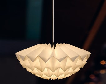 Origami Paper lampshade: Discus (white/ small)