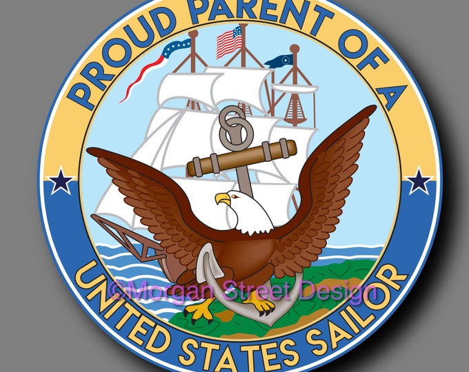 US Navy Sailor Parent Die Cut Vinyl Decal Sticker
