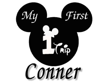 Disney Mickey Mouse My First Trip to disney Iron on Transfer personalized custom iron on T-shirt iron on transfer