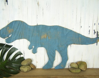 Tyrannosaurus Rex Wooden Dinosaur Sign T Rex Wall Art Dinosaur Nursery Wall Art Childs Room Dinosaur Room Decor T Rex Decor Kids Room Art