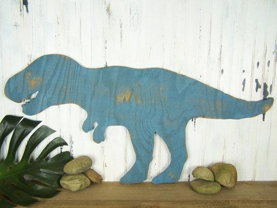 Tyrannosaurus rex wooden dinosaur sign t rex wall art dinosaur for T rex bedroom decor