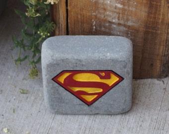 Superman Garden Stone
