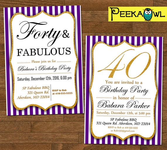 Amazing image for printable 40th birthday card