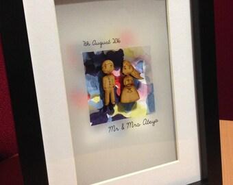 Personalised Wedding/Bride & Grooom Picture / Gift
