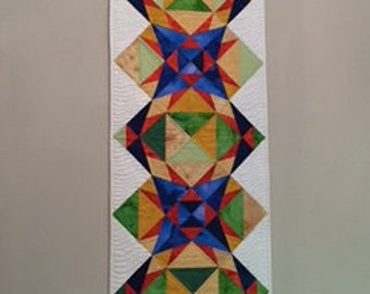 Angle Play Quilted Wall Hanging/Table Topper, Art Quilt