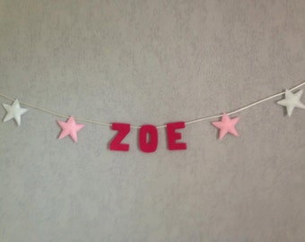 Garland star customizable name and colours
