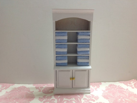 Cool 12thDOLLHOUSEMiniatureFurniturewoodenToiletBATHROOMSHELFdrawer