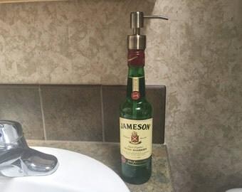 Soap Dispenser Jameson Whiskey Bottle 375ml, Unique Gift, Birthday Gift, Lotion Dispenser, Metal Soap Pump, Recycled Liquor Bottle