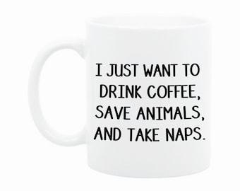 Funny Coffee Mug - Gift for Animal Lover - Dog Mug - Cat Mug - Gift for Vet Tech - Gift for Vet - Veterinarian Gift - Unique Gift Idea - Cup