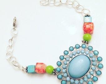 ON SALE! Tropical Turquoise Bracelet