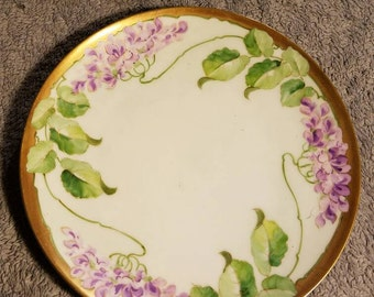 Purple Flowered Plate