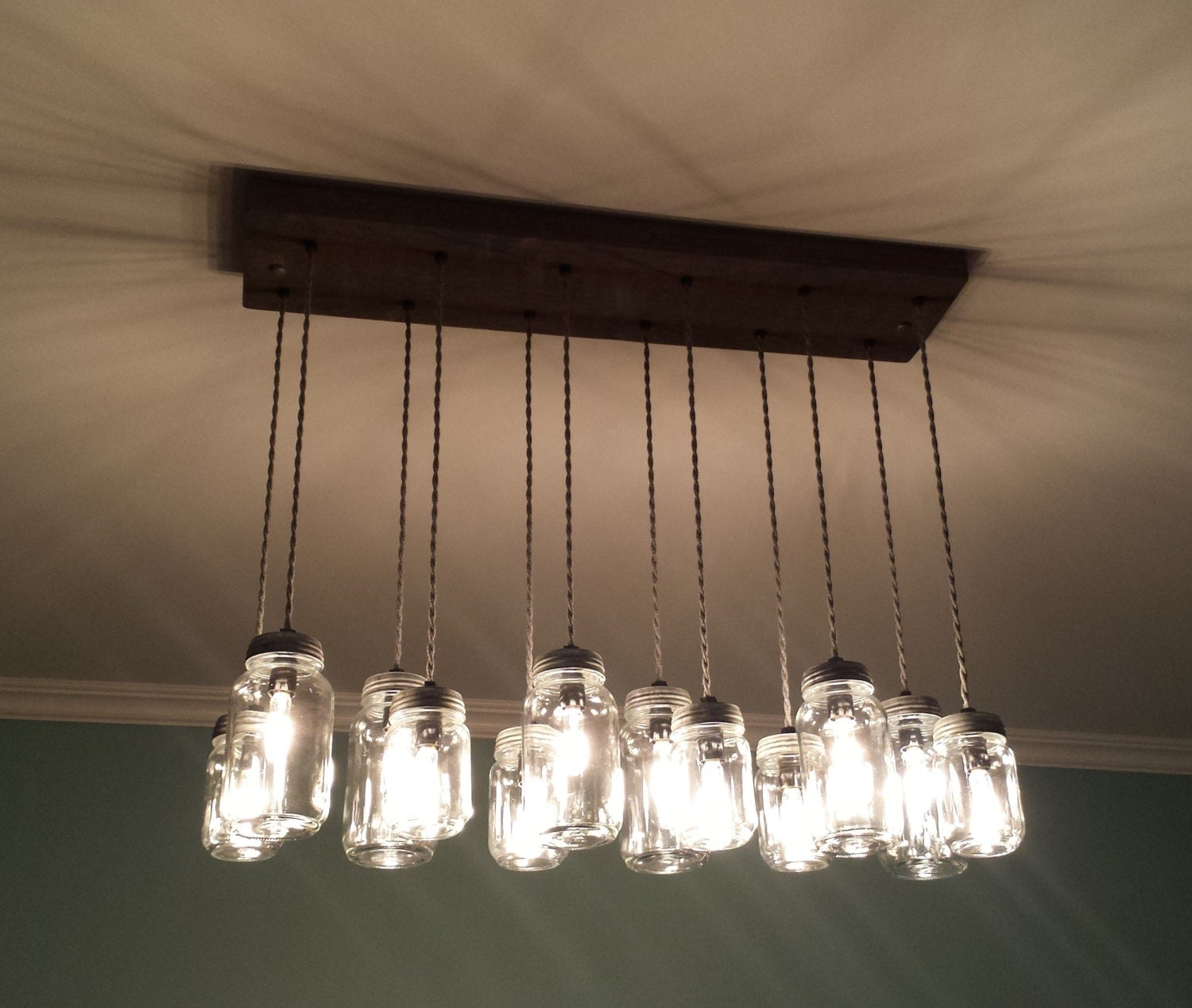 12 light diy mason jar chandelier rustic cedar rustic wood