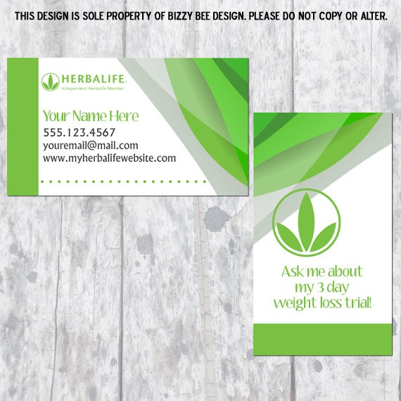 Herbalife Business Card Digital Download by BizzyBDesign