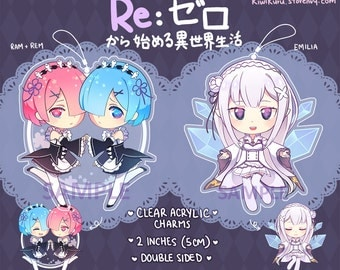 Re: Zero Charms 2inch Clear Acrylic