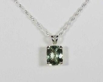 Sterling Silver Green Amethyst (Prasiolite) Pendant