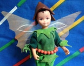Vintage Hornby Flower Fairies 1983 HOLLY PIXIE 1985 Cicely Mary Barker 1980s faerie dolls boy fantasy male fairy doll Christmas winter toy