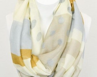 Polka Dots and Stripes - infinity scarf