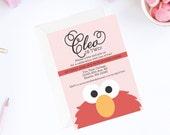 Elmo Invitation | Pink Elmo Invite | Elmo Birthday Party Invitation | Sesame Street Invitation | Sesame Street Birthday Party