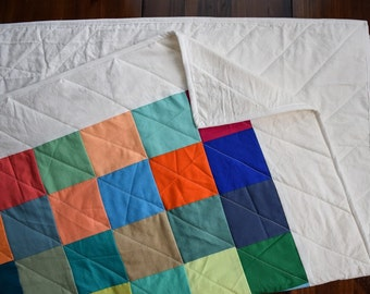 The Pixel Quilt - Modern Multicolored Quilt
