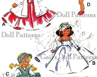 "Vintage Pattern for Wardrobe to fit 7"" to 8"" Ginny Doll"