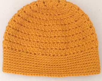 Children's Wool Hat in Mustard Yellow