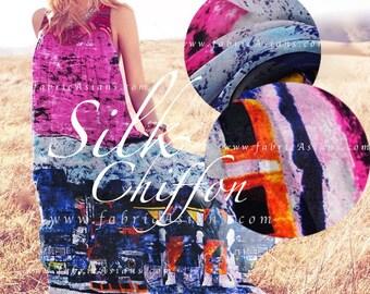 Fuchsia Chiffon. Silk Chiffon Fabric. SCD101370
