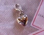 sterling silver vegan heart