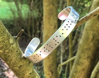 SALE- custom braille bracelet