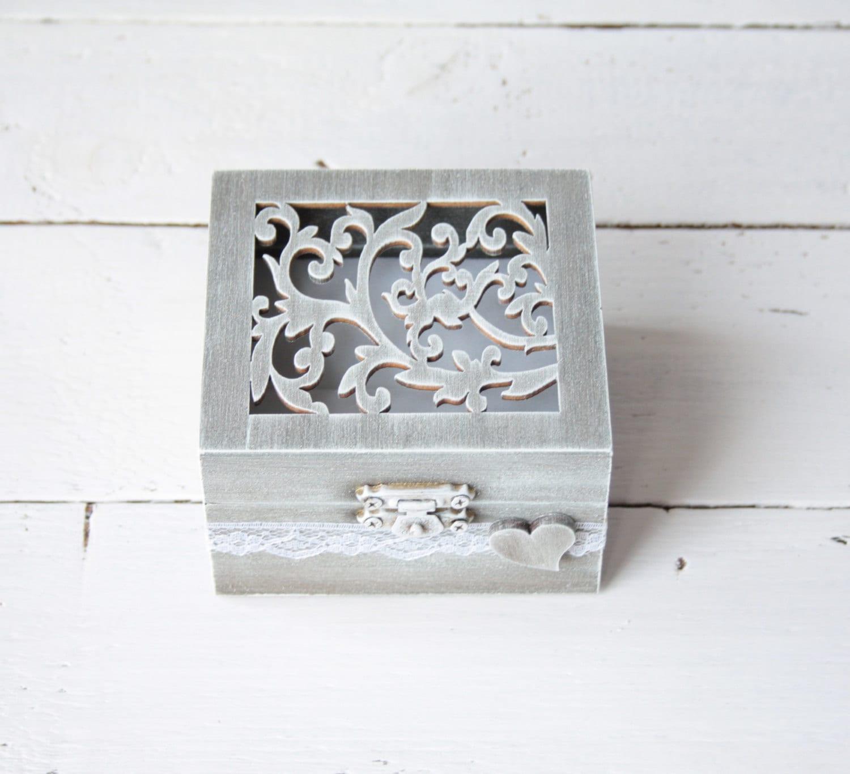 Ring Bearer Box Wedding Ring Box Rustic Vintage Wedding Ring