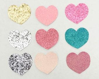 Glitter Heart Snap Clip, Glitter Heart
