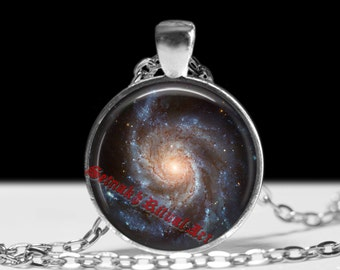 Spiral Galaxy jewelry Astrology necklace Planet pendant Cosmos jewellery #434.1