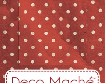 Red Polka Dot Deco Mache Decoupage Papers