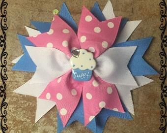 Cupcake Cutie Pie Bow