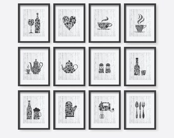 6 set kitchen collections decor kitchen poster set by