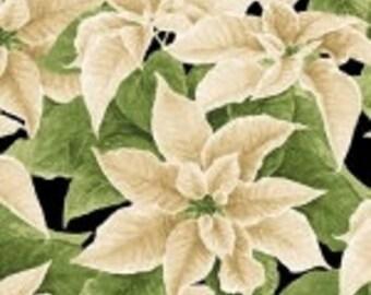 Christmas Elegance Henry Glass Poinsettias Fabric9930