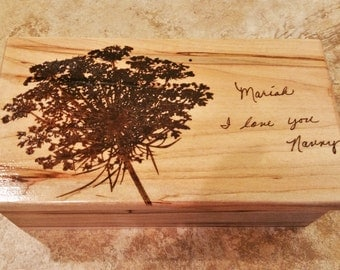 Personalized Electronic Music Box ANY Song,Custom Music Jewelry Box,MP3 Music Box,Laser Engraved Digital Music Box,Flower MusicBox,dandelion
