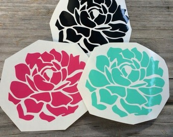 Succulent Vinyl Decal, Vinyl Stickers, Disney Laptop Decal, succulent Car Sticker, Laptop Sticker, Car Decal, Succulent Sticker