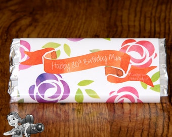 Floral Chocolate Wrapper