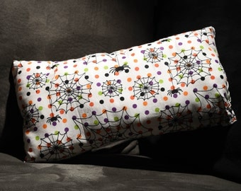 One of a Kind Handmade and Handsewn Halloween Cute Spiderwebs Pillow!