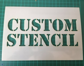 Custom stencils in  Reuasble Mylar up to 500 x 700 mm 19.5 x 27.5 in