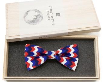 Chevron Stripes Bowtie - Modern Boys Bowtie, Toddler Bowtie Toddler Bow tie, Groomsmen bow tie, Pre Tied and AdjustableNovioshk, H0202
