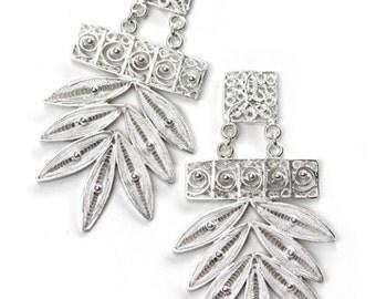 Silver Earrings  /  Gold Plated Earrings