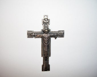 Crucifix Cross, Christ the Priest, Little Flowers Seminary, Made Italy, Vintage
