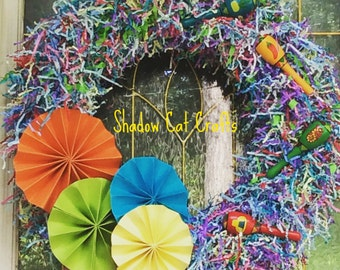 Quinceanera Colorburst Wreath