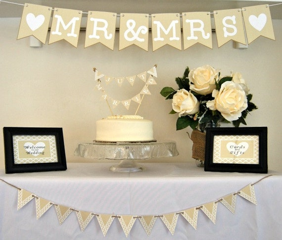 Easy Wedding Themes: PDF: Wedding Decor Printable Package Mr And Mrs Mr And Mrs